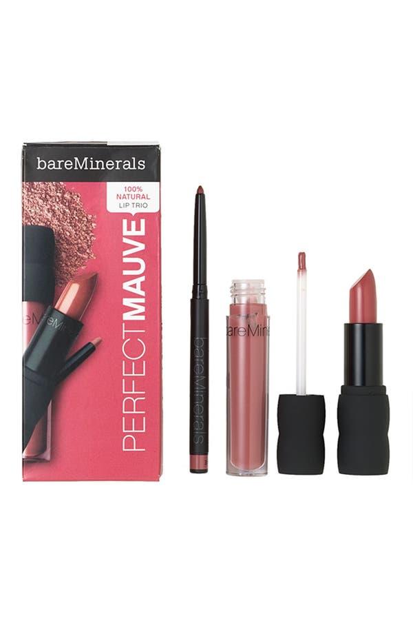 Alternate Image 1 Selected - bareMinerals® 100% Natural Lip Kit (The Perfect Mauve) ($41 Value)