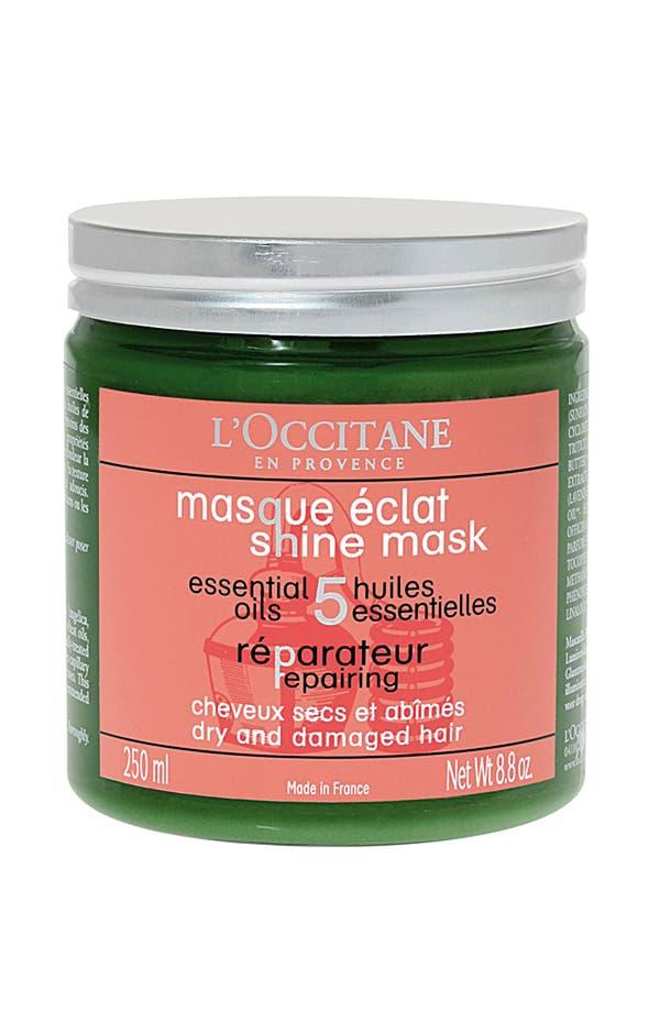 Alternate Image 1 Selected - L'Occitane 'Shine' Repairing Mask for Dry & Damaged Hair