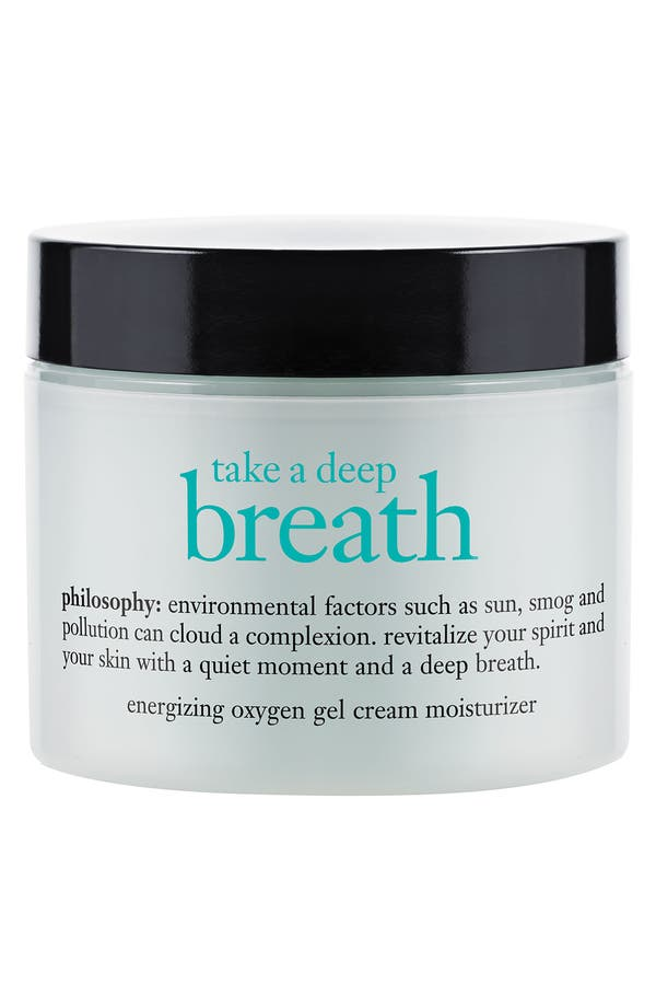 Alternate Image 1 Selected - philosophy 'take a deep breath' energizing oxygen gel cream moisturizer