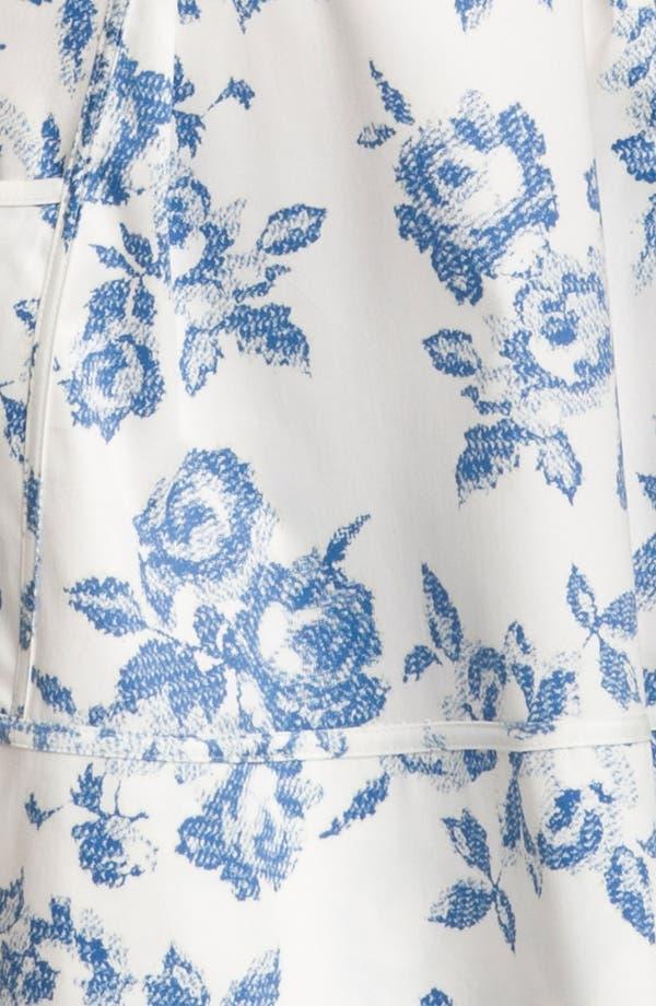 Alternate Image 3  - Jessica Simpson One Shoulder Print Cotton Dress
