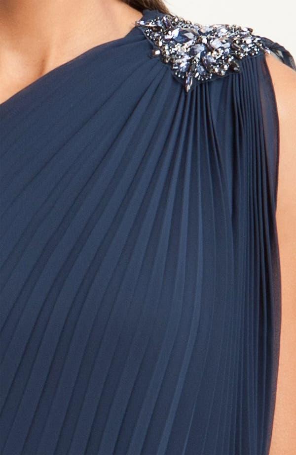 Alternate Image 3  - Xscape One Shoulder Pleated Chiffon Minidress