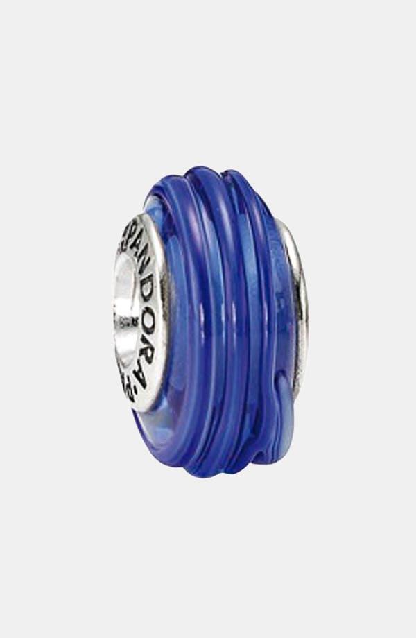 Alternate Image 1 Selected - PANDORA 'Blue Ribbon' Murano Glass Charm