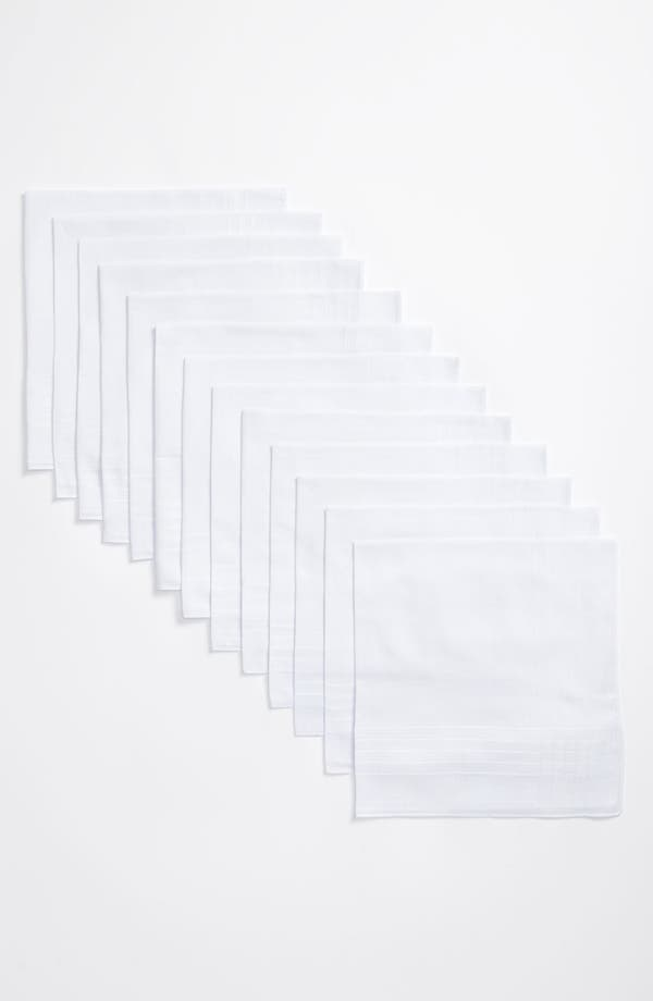 Alternate Image 3  - Nordstrom Men's Shop Cotton Handkerchief (13-Pack)