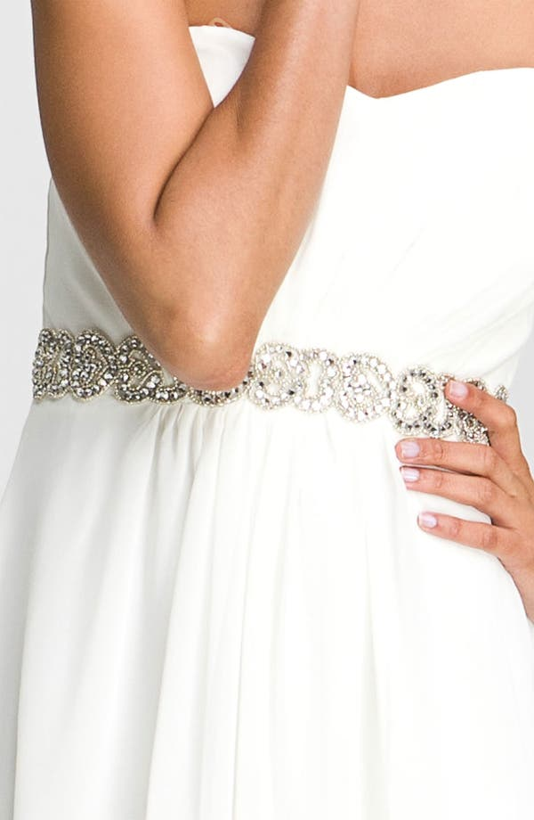 Alternate Image 3  - Xscape Embellished Waist Chiffon Gown (Online Only)