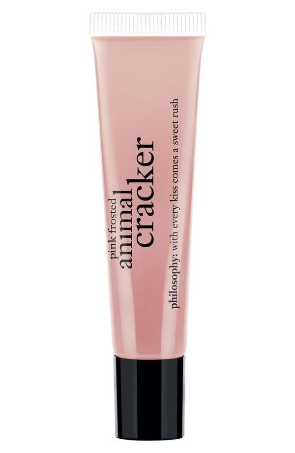 Main Image - philosophy 'pink frosted animal cracker' lip shine