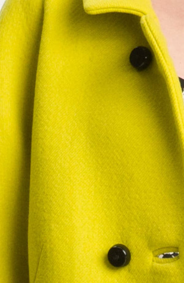 Alternate Image 3  - Milly 'Alexis' Wool Blend Coat