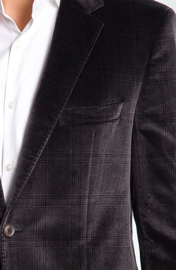 Alternate Image 3  - BOSS Black 'Smith' Velvet Plaid Sportcoat