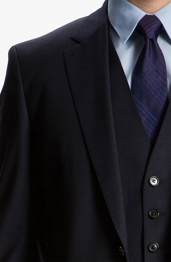 Alternate Image 8  - BOSS Black 'James/Sharp' Trim Fit Three Piece Suit