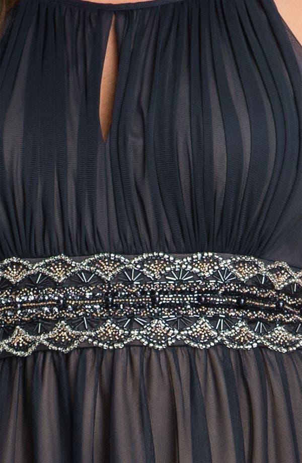 Alternate Image 3  - JS Boutique Beaded Mesh Dress (Plus)