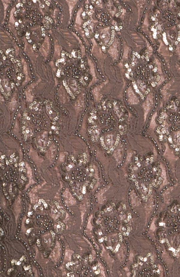 Alternate Image 3  - Aidan Mattox V-Back Embellished Lace Sheath Dress