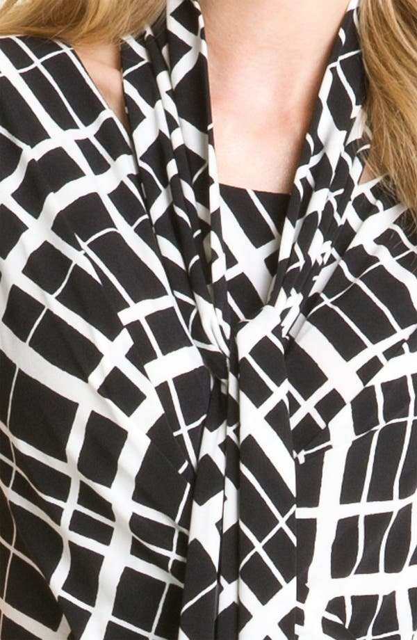 Alternate Image 2  - Anne Klein Faux Wrap Dress with Detachable Scarf