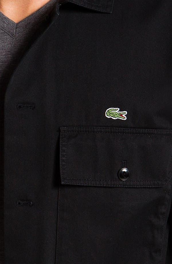 Alternate Image 3  - Lacoste L!VE Cotton Twill Trim Fit Shirt Jacket