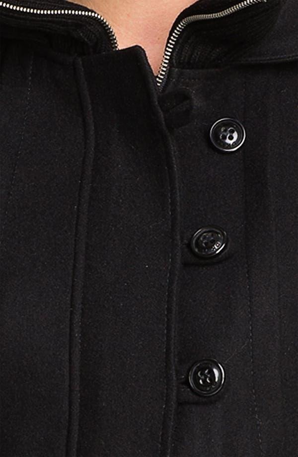 Alternate Image 3  - DKNY 'Bethany' Knit Inset Wool Blend Coat
