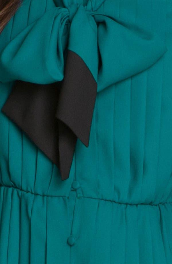 Alternate Image 3  - Taylor Dresses Pleated Tie Neck Shirtdress