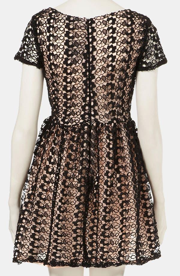 Alternate Image 2  - Topshop Lace Skater Dress