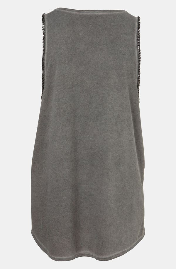 Alternate Image 2  - Topshop Chain Trim Graphic Tank