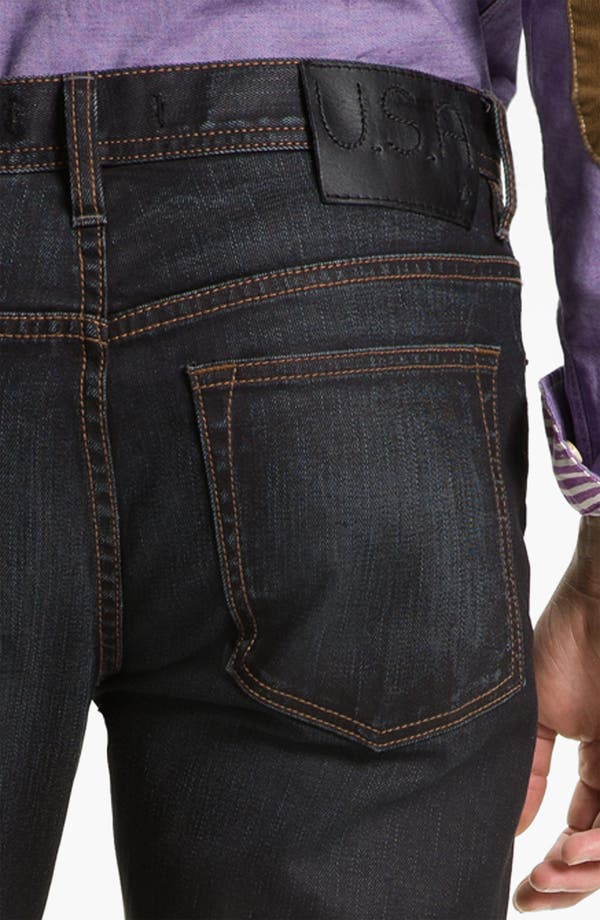 Alternate Image 4  - John Varvatos 'Bowery' Slim Straight Leg Jeans (Ink)