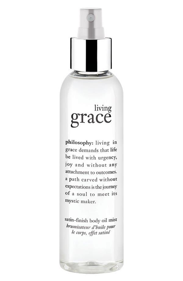 Alternate Image 1 Selected - philosophy 'living grace' satin finish body oil mist