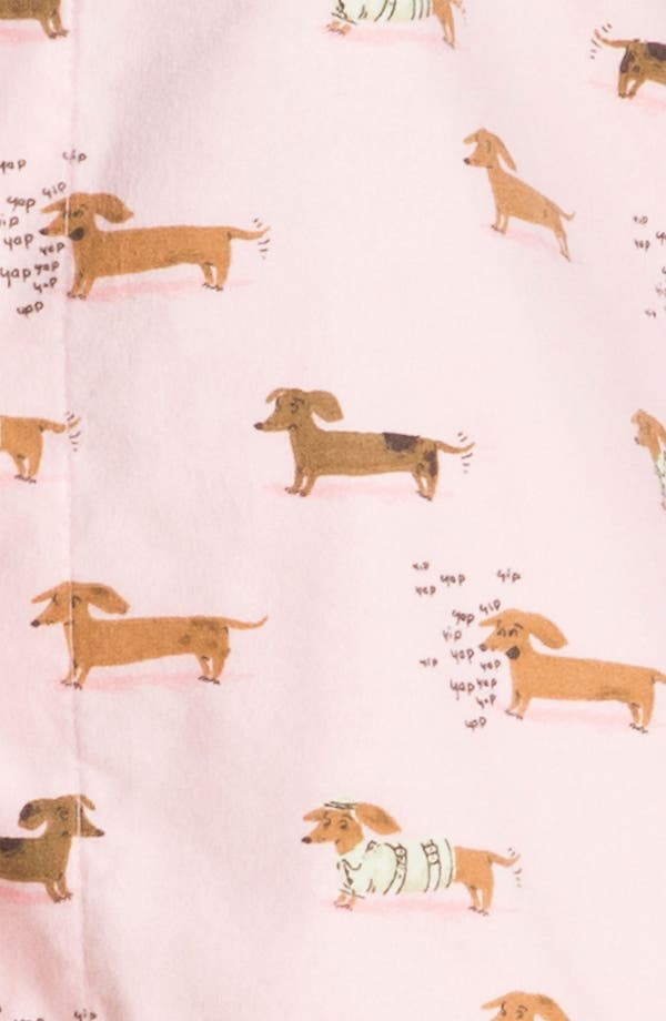 Alternate Image 3  - Munki Munki Print Flannel Pajamas (Plus Size)