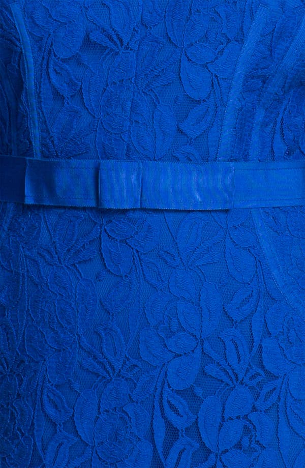 Alternate Image 3  - Taylor Dresses Long Sleeve Lace Dress (Plus)