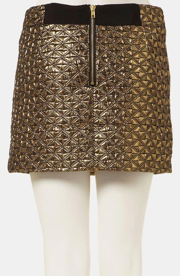 Alternate Image 2  - Topshop Metallic Jacquard Miniskirt
