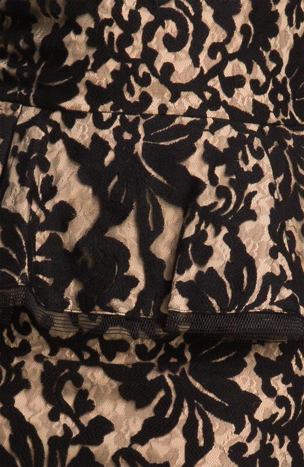 Alternate Image 3  - Tadashi Shoji Lace Peplum Dress (Plus Size)