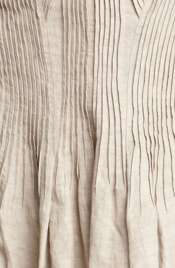 Alternate Image 4  - Donna Karan Collection Pintuck Linen Blend Skirt
