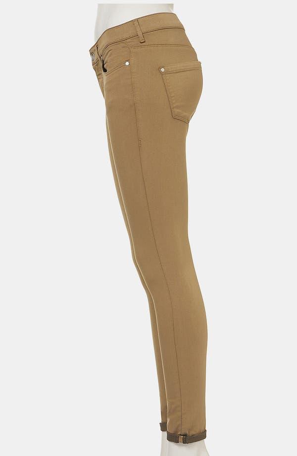 Alternate Image 4  - Topshop Moto 'Leigh' Skinny Jeans (Tobacco) (Petite)