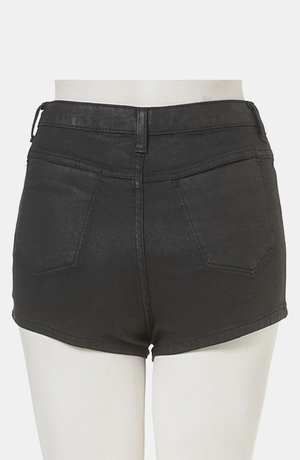Alternate Image 2  - Topshop Moto 'Suri' Coated Denim Hot Pants
