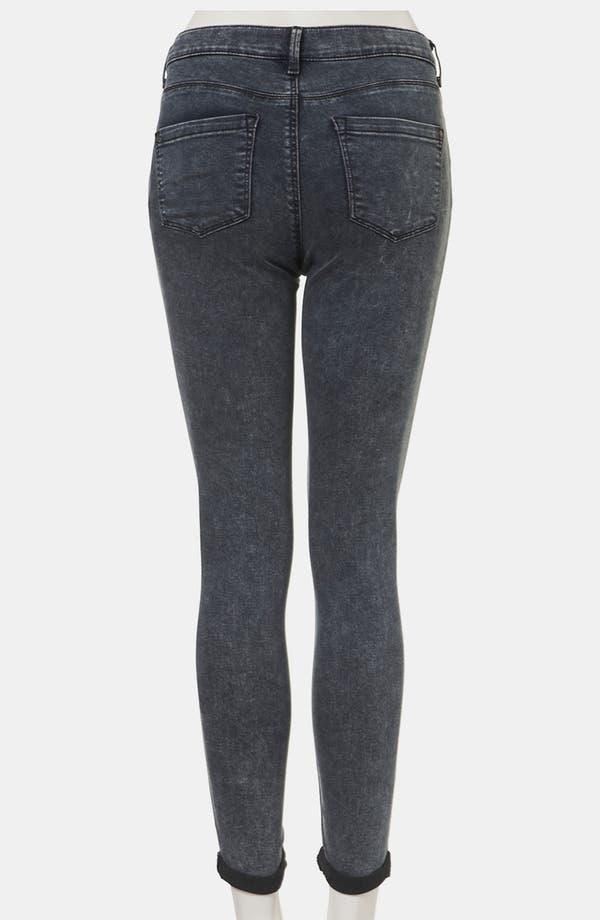 Alternate Image 2  - Topshop Moto 'Leigh' Acid Wash Skinny Jeans (Petite)