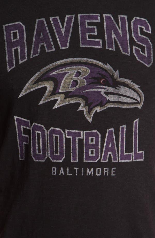 Alternate Image 3  - 47 Brand 'Baltimore Ravens' Slubbed Crewneck T-Shirt