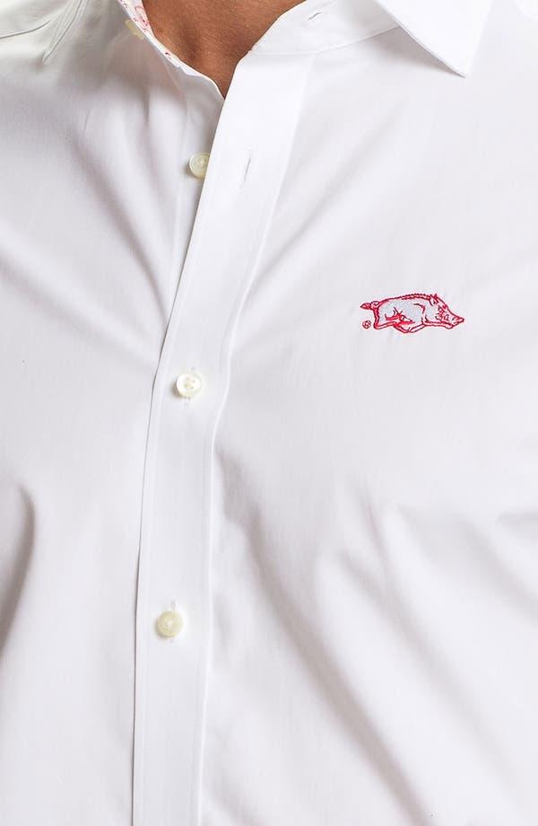 Alternate Image 3  - Thomas Dean 'University of Arkansas' Regular Fit Sport Shirt