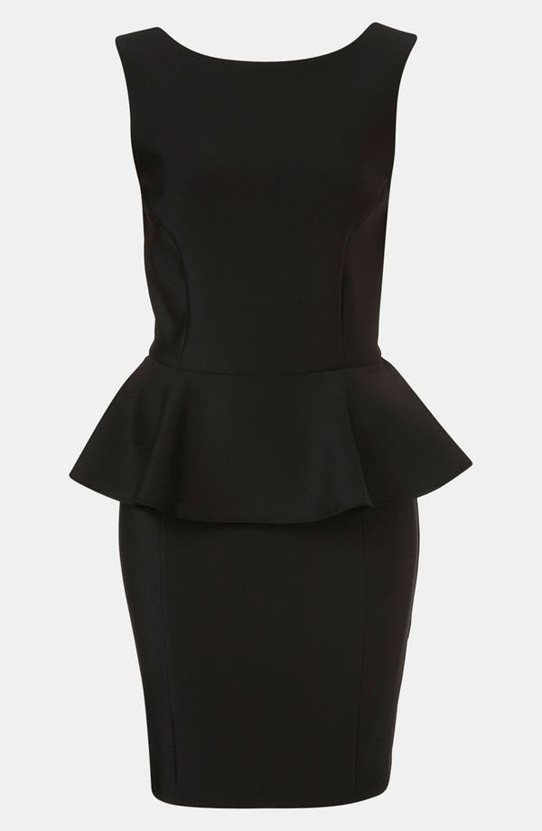 Alternate Image 1 Selected - Topshop Peplum Dress
