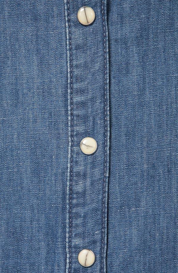 Alternate Image 3  - Topshop Moto Sleeveless Denim Shirt