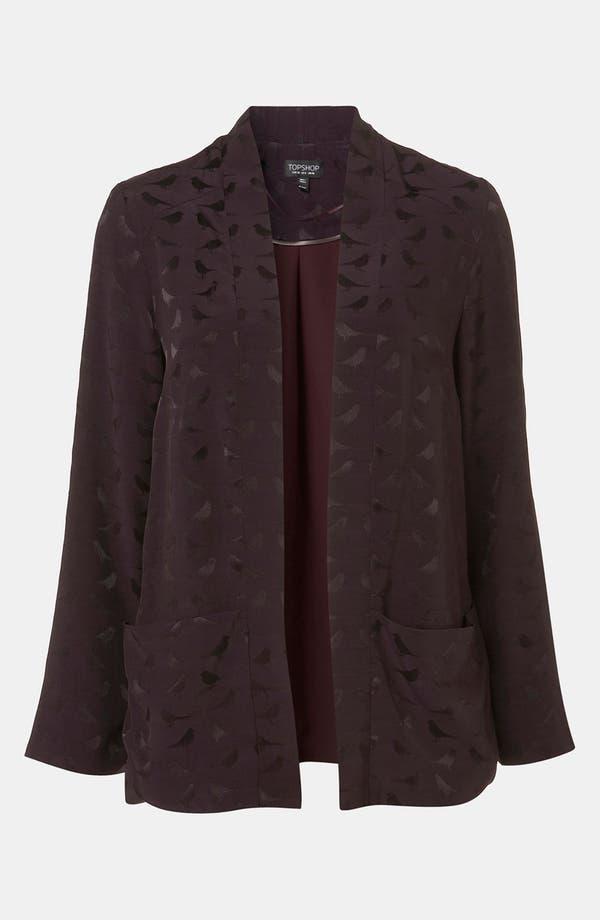 Main Image - Topshop Bird Jacquard Kimono Jacket