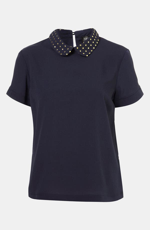Main Image - Topshop Studded Collar Blouse