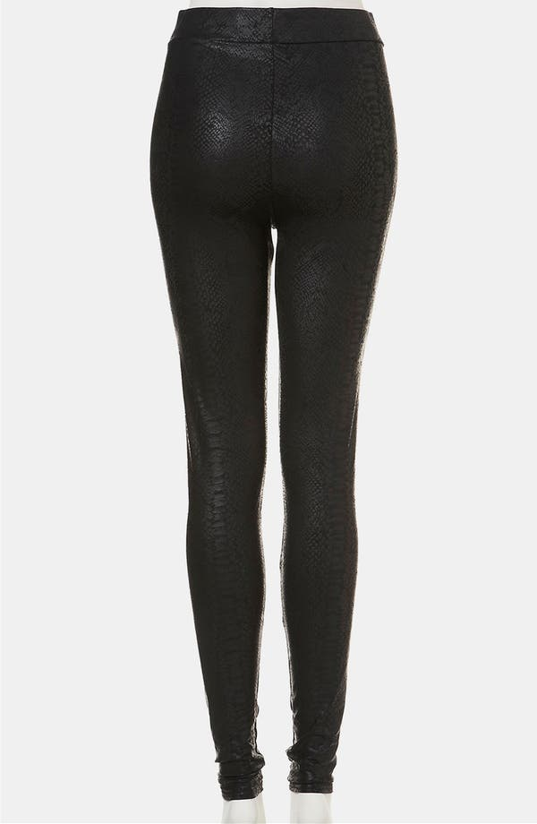 Alternate Image 2  - Topshop Snake Print Faux Leather Leggings