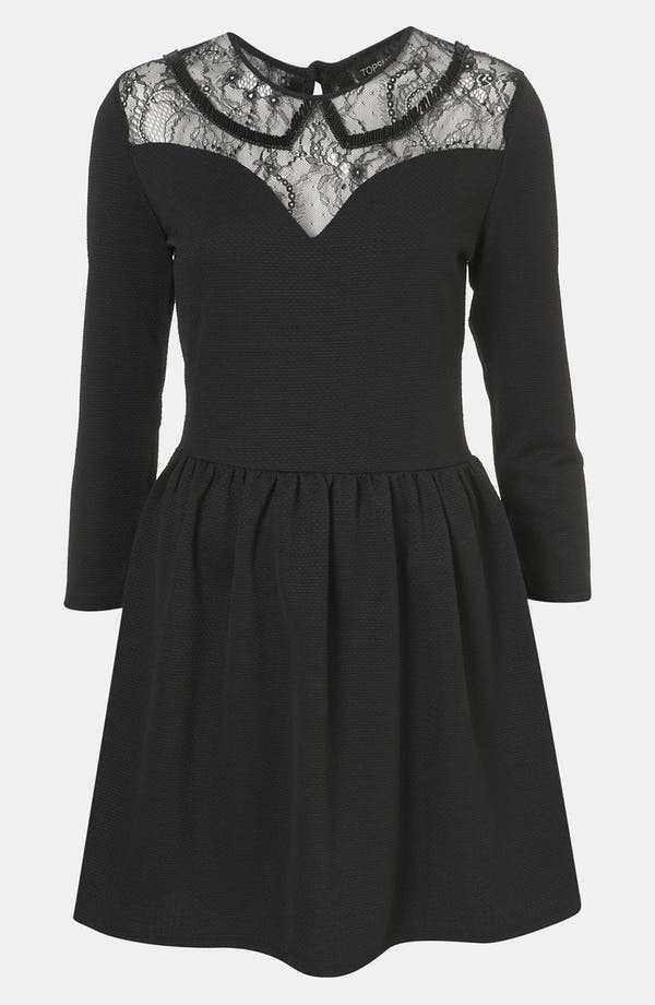 Main Image - Topshop Lace Sweetheart Dress