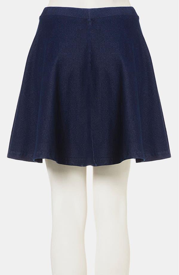 Alternate Image 2  - Topshop 'Andie' Denim Skater Skirt