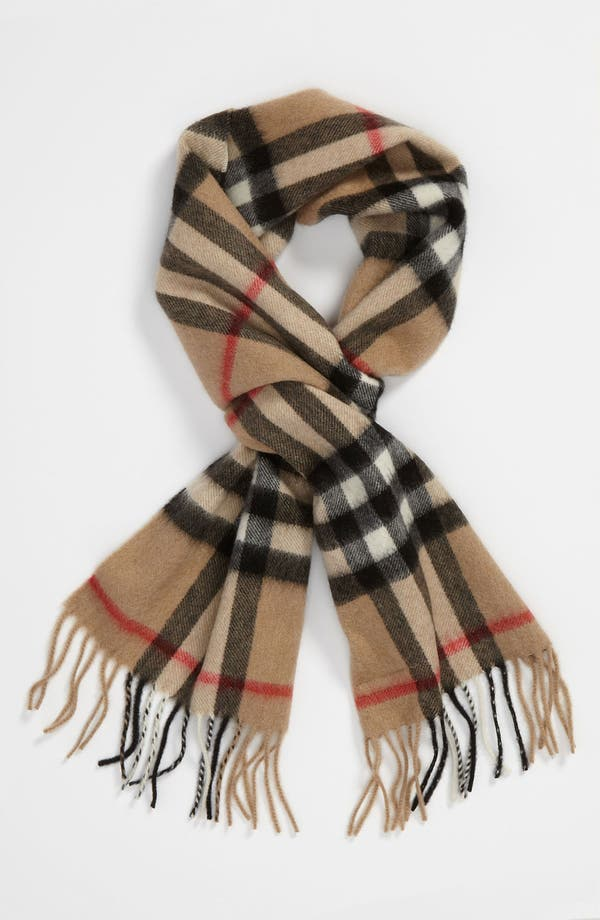Main Image - Burberry 'House Check' Cashmere Scarf (Girls)