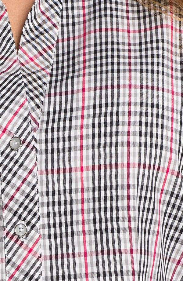 Alternate Image 3  - Foxcroft 'Holiday Check' Wrinkle Free Shaped Shirt (Plus)
