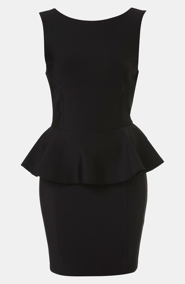 Main Image - Topshop Peplum Dress (Petite)