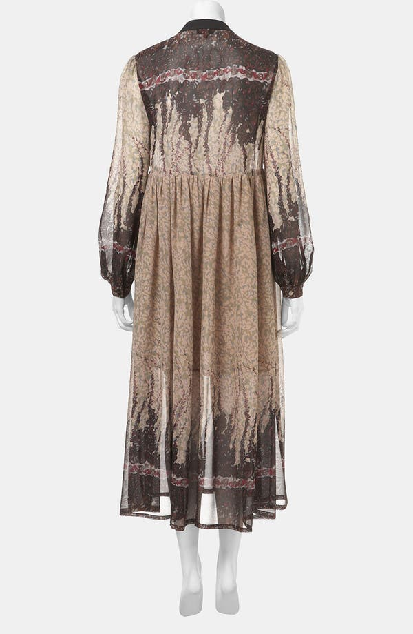 Alternate Image 2  - Topshop 'Black Meadow' Print Midi Dress