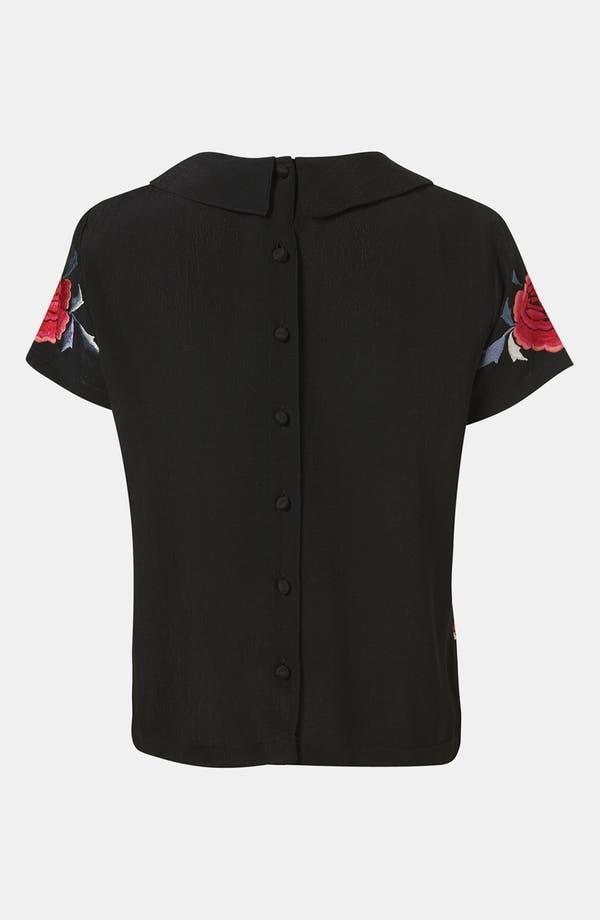 Alternate Image 2  - Topshop Floral Embroidered Shirt
