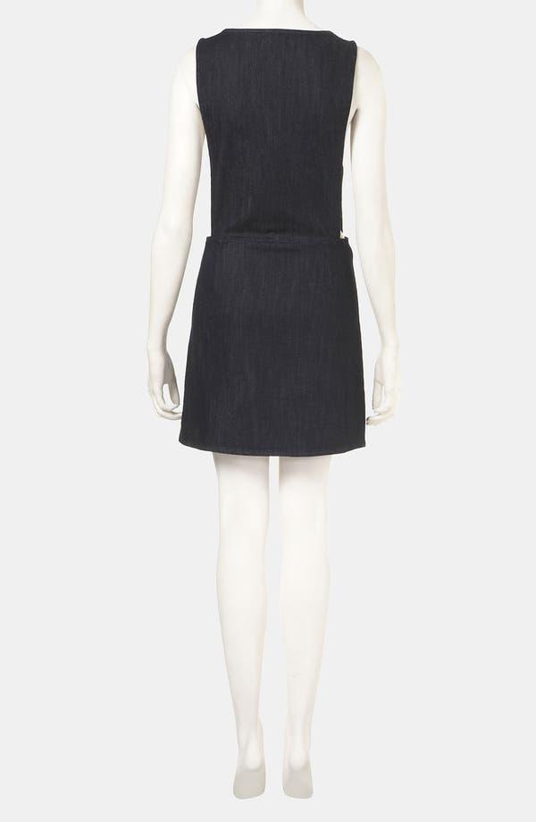 Alternate Image 2  - Topshop Denim Pinafore Dress