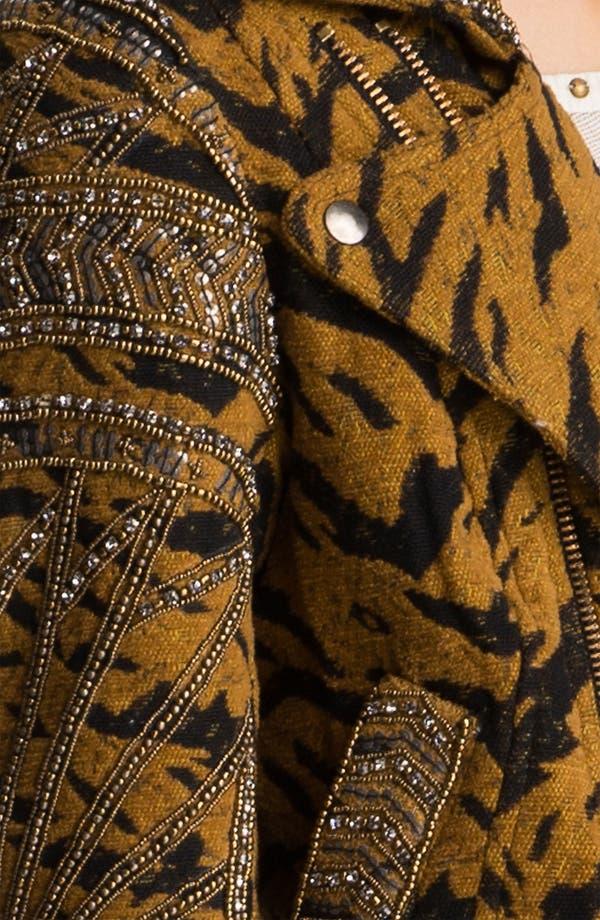 Alternate Image 3  - Free People Embellished Tiger Jacquard Biker Jacket