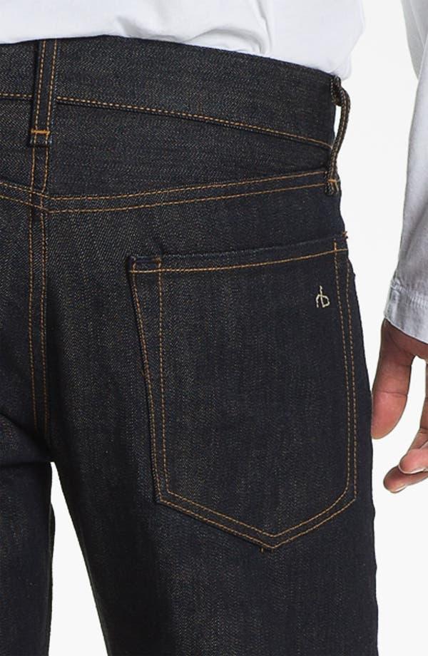 Alternate Image 4  - rag & bone 'RB19X' Slim Straight Leg Jeans (Olive Resin)