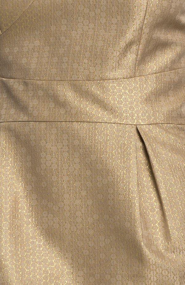 Alternate Image 3  - ML Monique Lhuillier Bridesmaids One Shoulder Metallic Woven Sheath Dress (Nordstrom Exclusive)