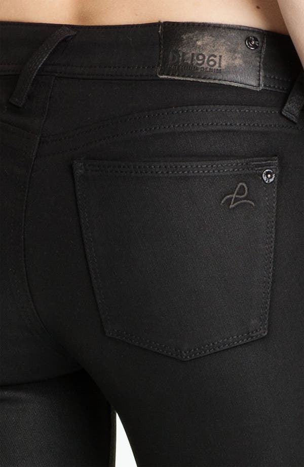 Alternate Image 3  - DL1961 'Amanda' Coated Denim Skinny Jeans (Hematite)