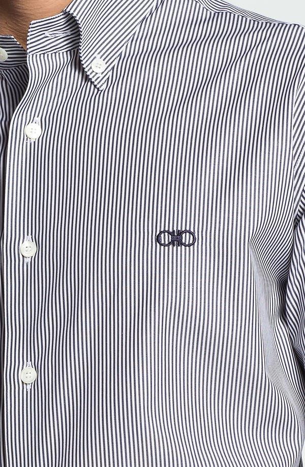 Alternate Image 3  - Salvatore Ferragamo Striped Sport Shirt